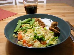 Kyckling med bulgur och dragonsås - dagens middag