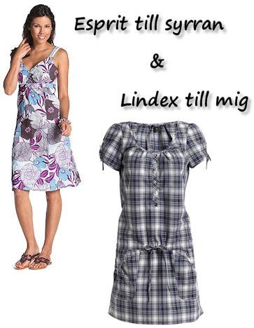 Bilder lånade från Esprit och Lindex.
